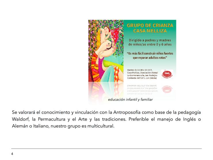 Oferta de Empleo Proyecto Educativo CasaMelliza 4