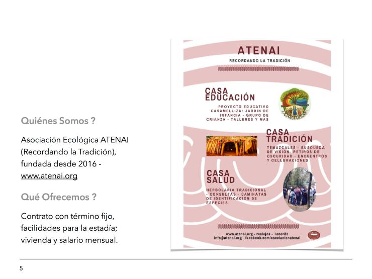 Oferta de Empleo Proyecto Educativo CasaMelliza 5